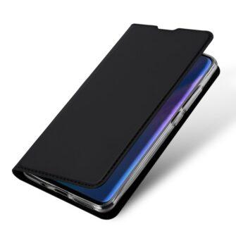 Huawei P30 Lite kunstnahast kaaned koos kaarditaskuga musta värvi DUX DUCIS 3