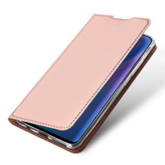 Huawei P30 Lite kunstnahast kaaned koos kaarditaskuga roosa värvi DUX DUCIS 4