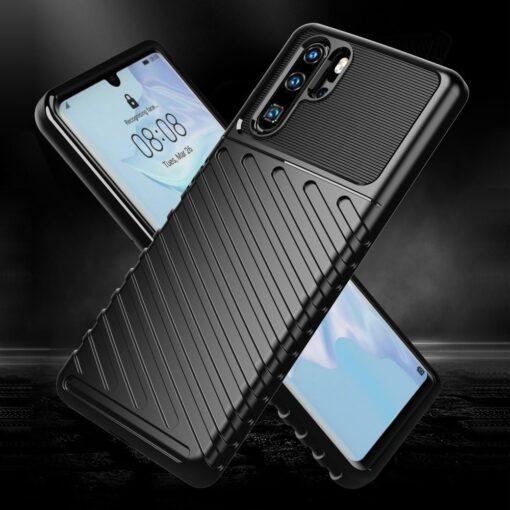 Huawei P30 Pro tugev silikoonist ümbris must värvi 1