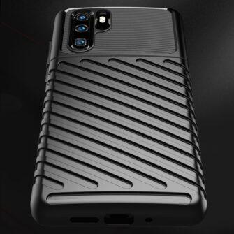 Huawei P30 Pro tugev silikoonist ümbris must värvi 5