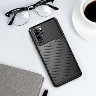 Huawei P30 Pro tugev silikoonist ümbris must värvi 8