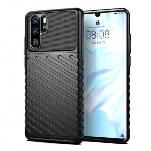 Huawei P30 Pro tugev silikoonist ümbris must värvi 9