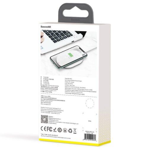 Juhtmevaba Qi laadija 15W Baseus Cobble USB C Valge 10