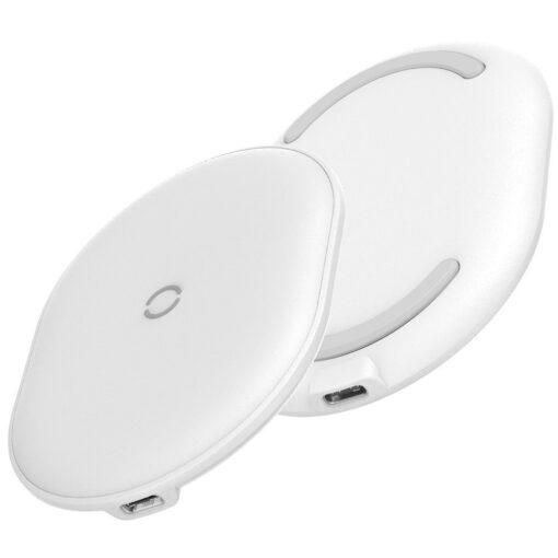 Juhtmevaba Qi laadija 15W Baseus Cobble USB C Valge 4