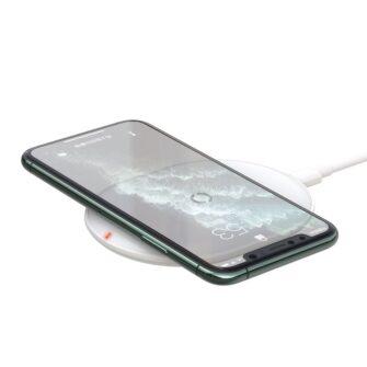 Juhtmevaba Qi laadija 15W Baseus Cobble USB C Valge 7