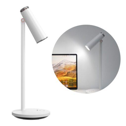 Laualamp kontorisse LED juhtmevaba valge 12
