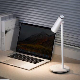 Laualamp kontorisse LED juhtmevaba valge 14