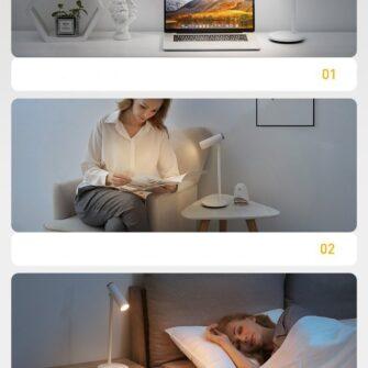 Laualamp kontorisse LED juhtmevaba valge 22