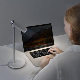 Laualamp kontorisse LED juhtmevaba valge 6