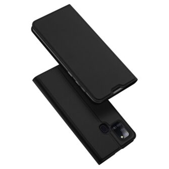 Samsung A21S kaaned klapiga musta värvi dux ducis