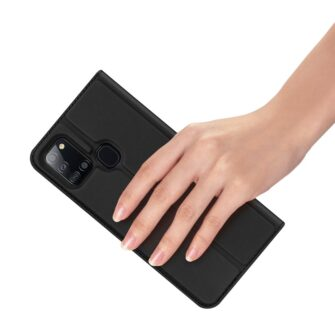 Samsung A21S kaaned klapiga musta värvi dux ducis 8