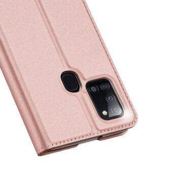 Samsung A21S kaaned roosat värvi kaarditaskuga dux ducis 17