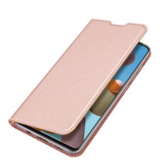 Samsung A21S kaaned roosat värvi kaarditaskuga dux ducis 18