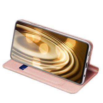 Samsung A21S kaaned roosat värvi kaarditaskuga dux ducis 19