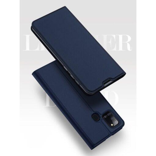 Samsung A21S kaaned roosat värvi kaarditaskuga dux ducis 24