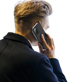 Samsung A41 kaarditaskuga kaaned musta värvi kunstnahast DUX DUCIS 1