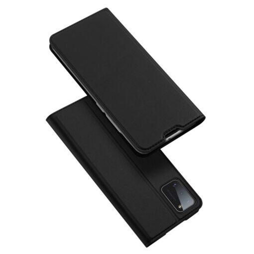 Samsung A41 kaarditaskuga kaaned musta värvi kunstnahast DUX DUCIS