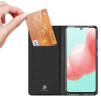 Samsung A41 kaarditaskuga kaaned musta värvi kunstnahast DUX DUCIS 3
