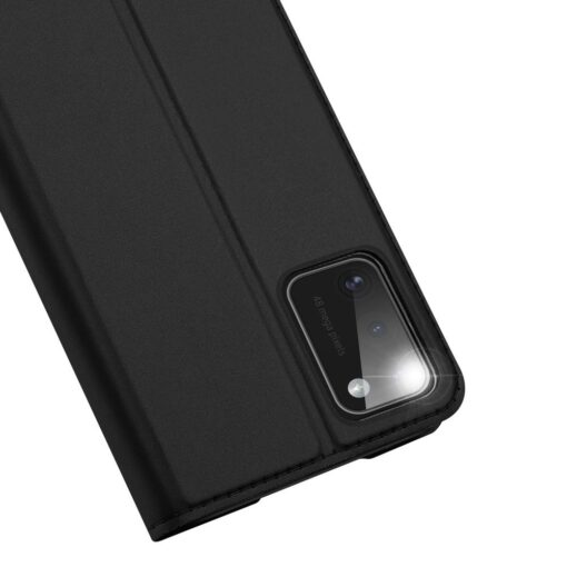 Samsung A41 kaarditaskuga kaaned musta värvi kunstnahast DUX DUCIS 4