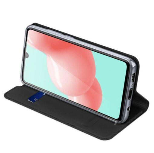 Samsung A41 kaarditaskuga kaaned musta värvi kunstnahast DUX DUCIS 6