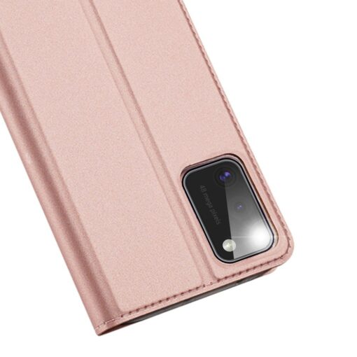 Samsung A41 kaarditaskuga kaaned roosat värvi kunstnahast DUX DUCIS 3