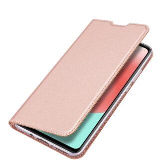 Samsung A41 kaarditaskuga kaaned roosat värvi kunstnahast DUX DUCIS 4