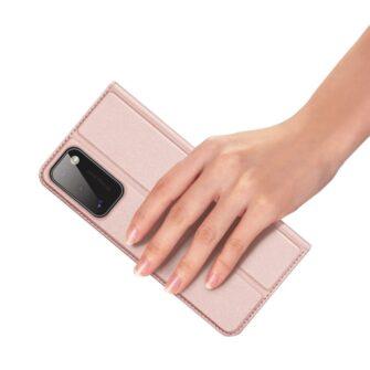 Samsung A41 kaarditaskuga kaaned roosat värvi kunstnahast DUX DUCIS 6