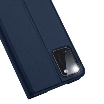 Samsung A41 kaarditaskuga kaaned sinist värvi kunstnahast DUX DUCIS 3