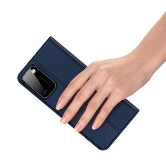 Samsung A41 kaarditaskuga kaaned sinist värvi kunstnahast DUX DUCIS 6