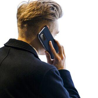 Samsung A41 kaarditaskuga kaaned sinist värvi kunstnahast DUX DUCIS 7
