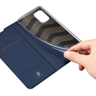 Samsung A41 kaarditaskuga kaaned sinist värvi kunstnahast DUX DUCIS 8