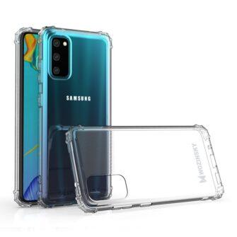 Samsung A41 läbipaistvast silikoonist tugevdatud nurkadega põrutuskindel ümbris 1