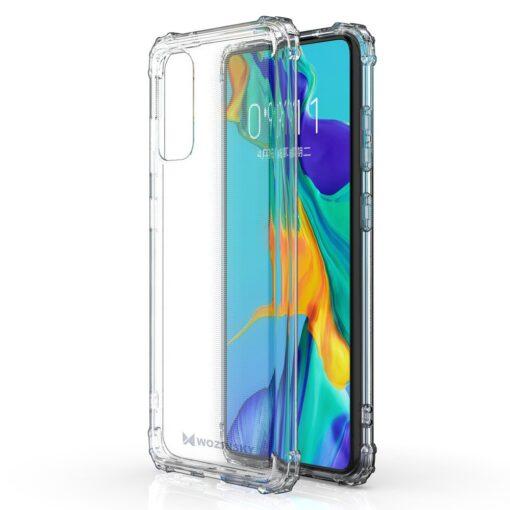 Samsung A41 läbipaistvast silikoonist tugevdatud nurkadega põrutuskindel ümbris