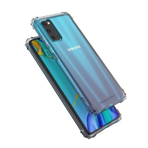 Samsung A41 läbipaistvast silikoonist tugevdatud nurkadega põrutuskindel ümbris 5