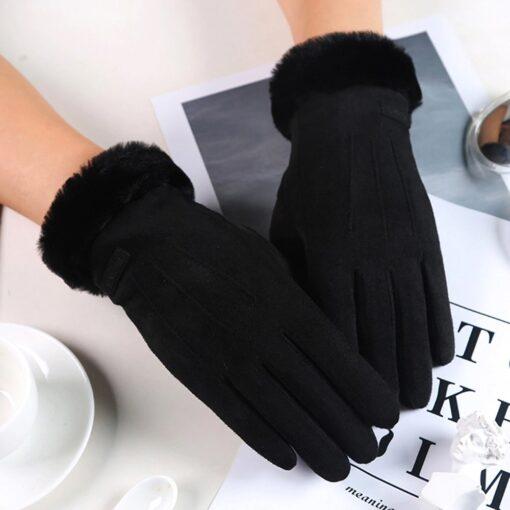 Soojad nutikindad talveks musta värvi