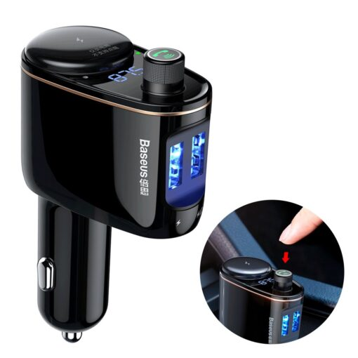 FM transmitter bluetoothiga autosse muusika juhtmevabaks edastamiseks