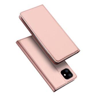 iPhone 11 kaaned kaarditaskuga dux ducis roosa nahast 1