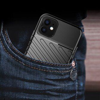 iPhone 11 tugev silikoonist ümbris musta värvi 8