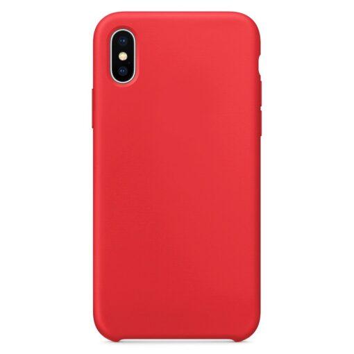 iPhone XS silikoonist ümbris punane 1