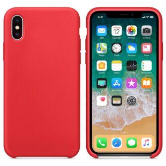 iPhone XS silikoonist ümbris punane 2