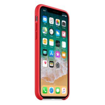 iPhone XS silikoonist ümbris punane 3