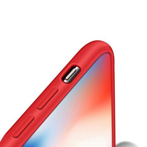 iPhone XS silikoonist ümbris punane 6