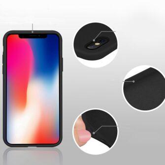iPhone XS silikoonist ümbris punane 7