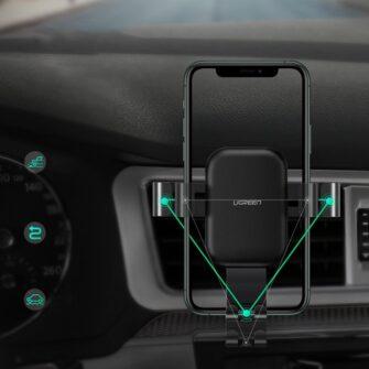 juhtmevaba laadijaga telefonihoidik autosse qi 3