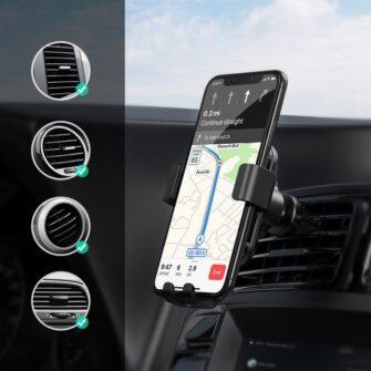 juhtmevaba laadijaga telefonihoidik autosse qi 8
