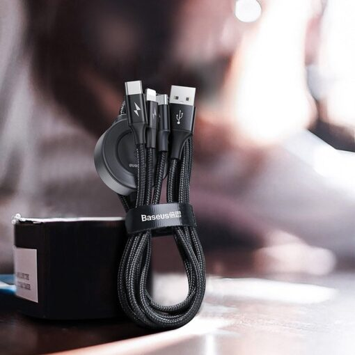 4in1 Micro USB USB C Lightning Qi Apple watch laadija 1