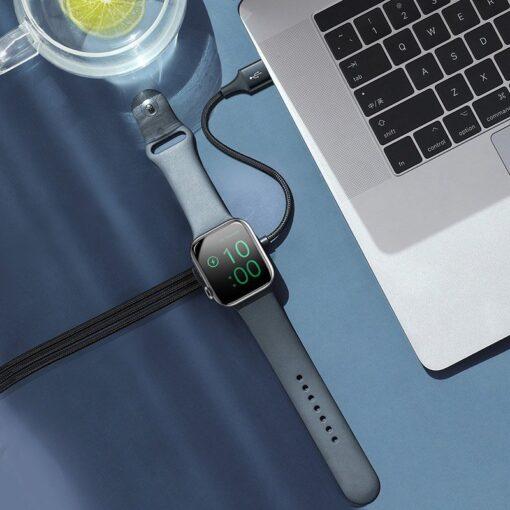 4in1 Micro USB USB C Lightning Qi Apple watch laadija 2