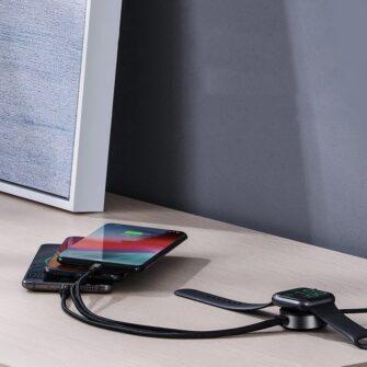 4in1 Micro USB USB C Lightning Qi Apple watch laadija 4
