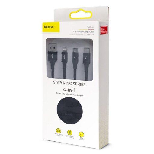 4in1 Micro USB USB C Lightning Qi Apple watch laadija 5