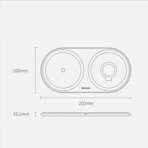 Baseus Planet 3in1 10W juhtmevaba Qi laadija Telefon AirPods Apple Watch seinadapter must 1